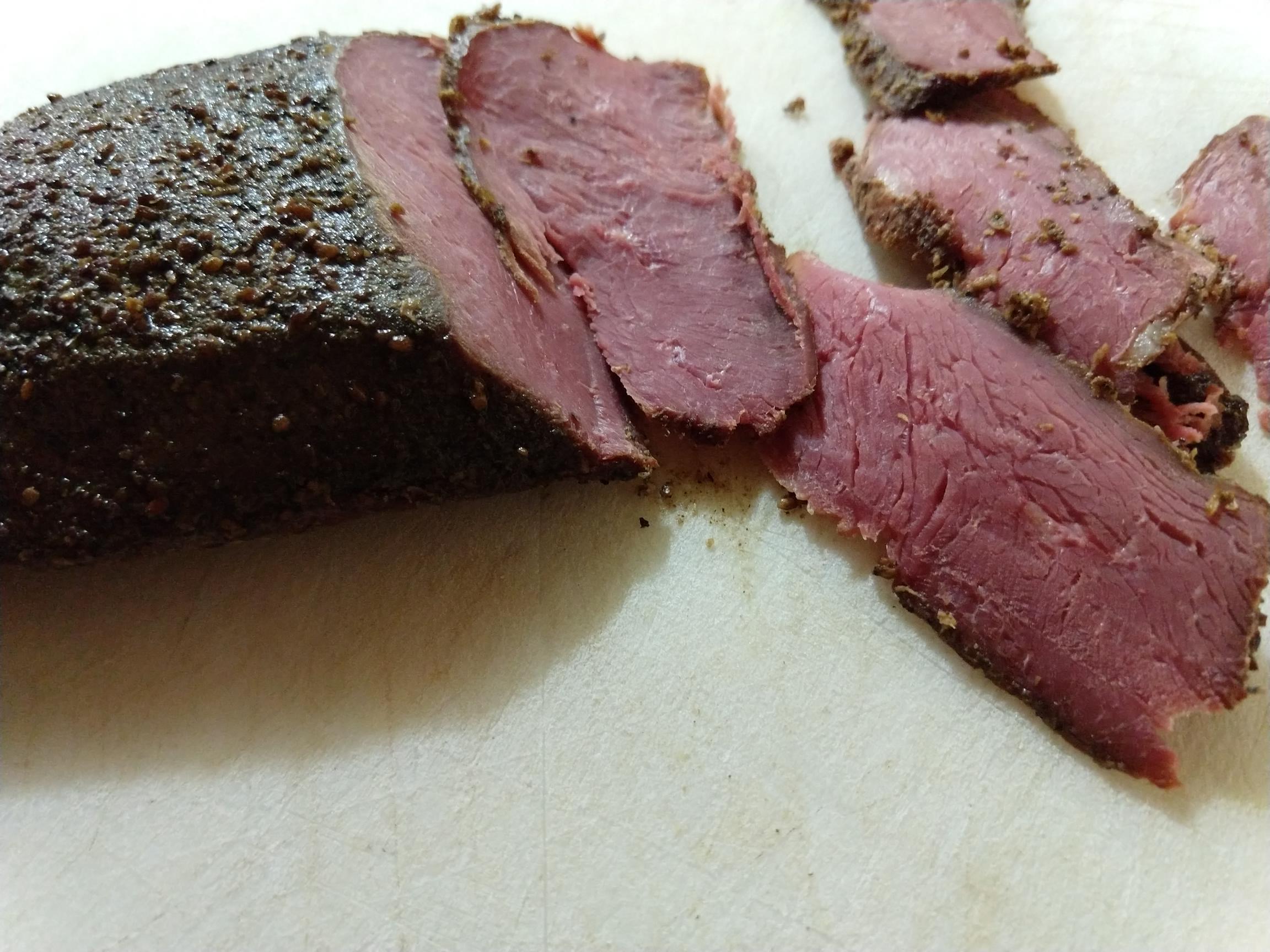 Smoked goose breast, Pastrami-style